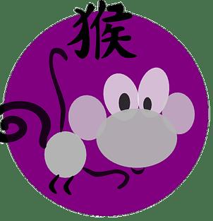 Apinasymboli ja kiinalainen merkki kiinalaisessa astrologiassa ja kiinalaisissa horoskoopeissa.