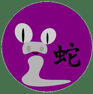 Symboli ja kiinalainen merkki käärmeelle kiinalaisessa astrologiassa ja kiinalaisissa horoskoopeissa.