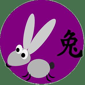 Symboli ja kiinalainen merkki kanille kiinalaisessa astrologiassa ja kiinalaisissa horoskoopeissa.