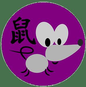 Rotan symboli ja kiinalainen merkki kiinalaisessa astrologissa ja kiinalaisessa horoskoopissa.